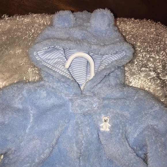 New Carter/'s Winter Pram Snowsuit Light Pink size 6m NWT Bear Ears on Hood